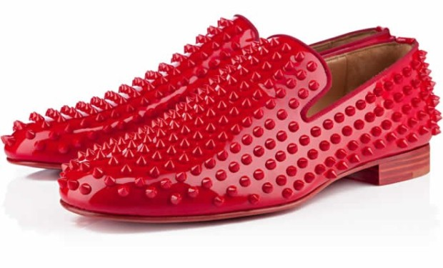 Louboutin Rollerboy Spike Patent Shoe